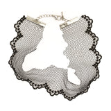 Madison Wide Lace Choker Necklace