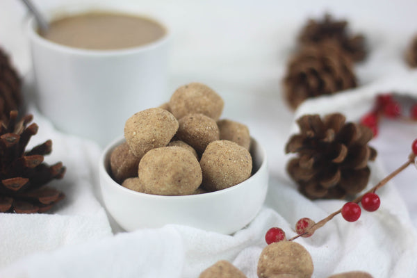 4 Ingredient Gingerbread Cookie Dough Bites