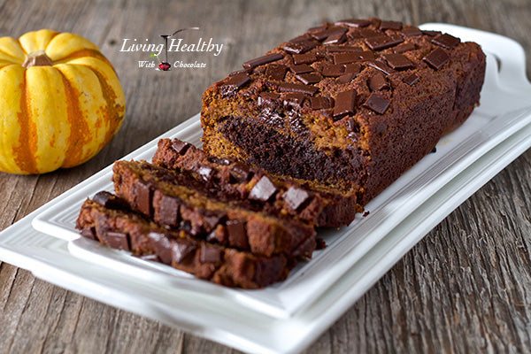 PALEO MARBLE PUMPKIN CHOCOLATE BREAD