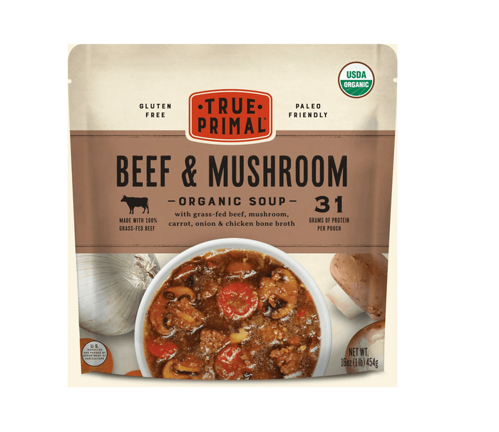 Organic Grass Fed Beef & Mushroom Soup by True Primal