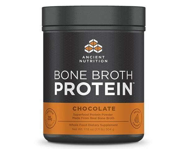 Dr. Axe Bone Broth Protein, Chocolate, 1 lb, by Ancient Nutrition