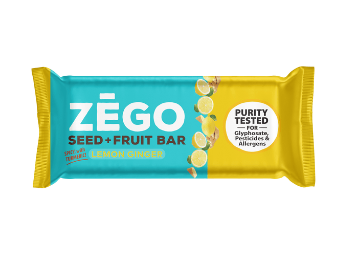 Seed+Fruit Lemon Ginger Bar by ZEGO