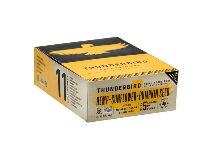 Hemp Sunflower Pumpkin Bars (box of 15) by Thunderbird
