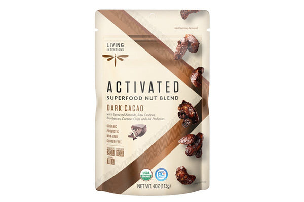 Dark Cacao Superfood Nut Blend with Live Probiotics by Living Intentions