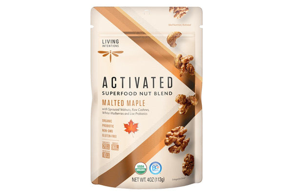 Malted Maple Activated Superfood Nut Blend with Probiotics by Living Intentions