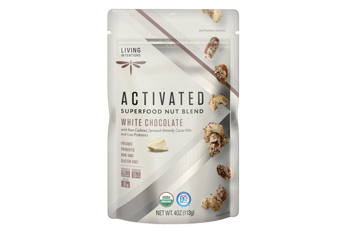 White Chocolate Activated Superfood Nut Blend with Probiotics by Living Intentions
