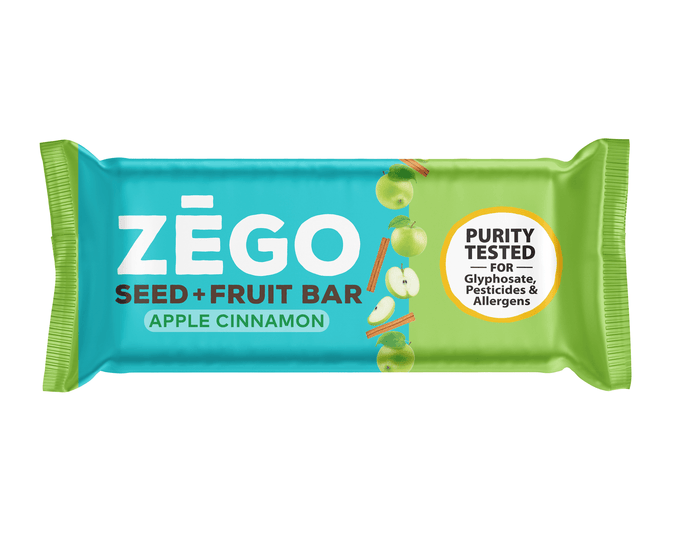 Seed+Fruit Apple Cinnamon Bar by ZEGO
