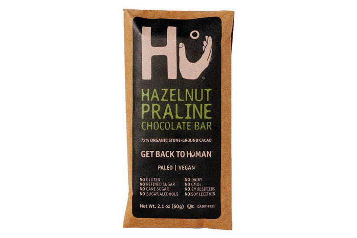 Hazelnut Praline Dark Chocolate Bar by HU Kitchen