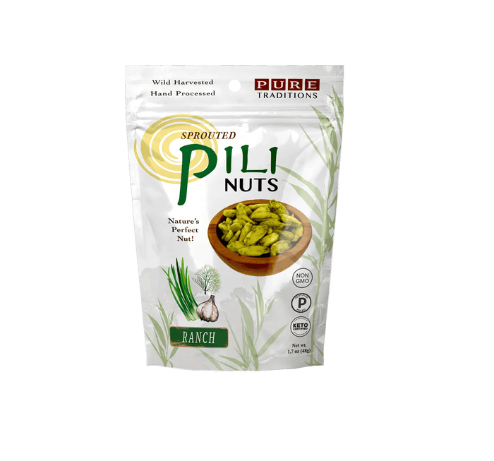 Sprouted Pili Nuts, Ranch, 1.7 oz by Pure Traditions