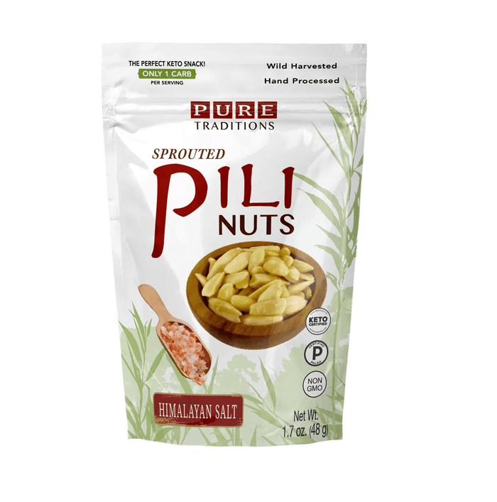 Sprouted Pili Nuts, Himalayan Salt, 1.7 oz by Pure Traditions