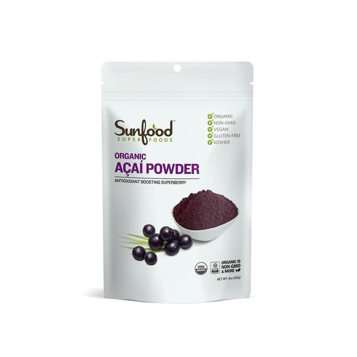 Acai Powder, 8 oz, Certified Organic by Sunfood
