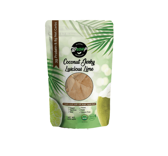 Coconut Jerky, Luscious Lime by WrawP Foods