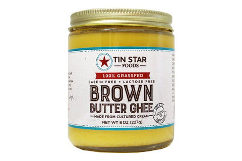 Cultured Brown Butter Ghee by Tin Star Foods - 8 oz