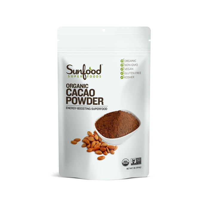 Organic Cacao Powder 1 pound by Sunfood