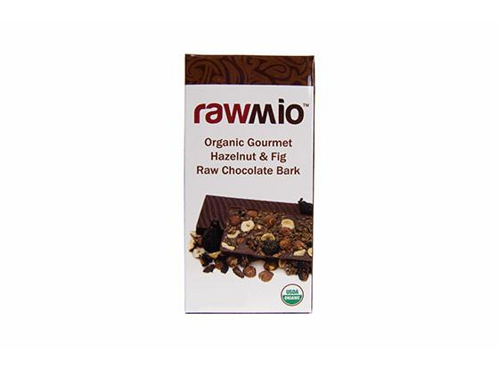 Hazelnut and Fig Raw Organic Chocolate Bark by Rawmio