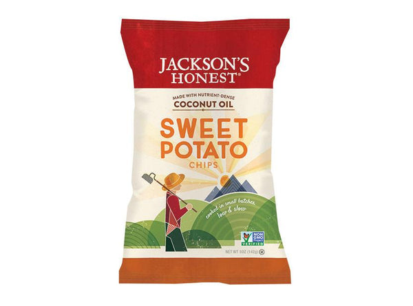 Sweet Potato Sea Salt Potato Chips by Jackson's Honest Chips