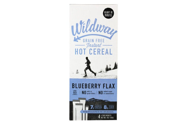 Grain-Free Instant Hot Cereal, Blueberry Flax, by Wildway