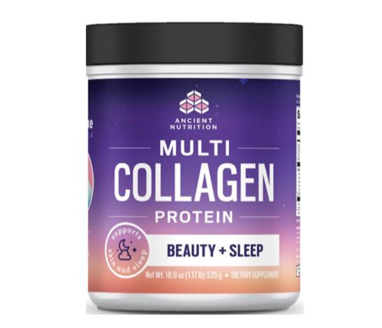 Dr. Axe Multi Collagen Protein Beauty + Sleep, Lavender Bergamot, 1 lb, by Ancient Nutrition