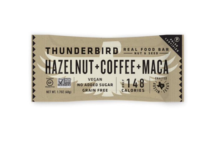 Coffee + Hazelnut + Maca Bar by Thunderbird