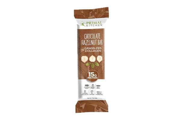 Chocolate Hazelnut Bar with Grass-Fed Collagen by Primal Kitchen