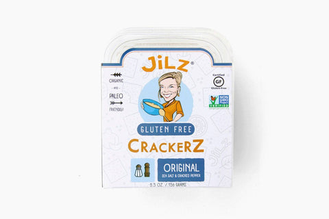 Cracked Pepper and Sea Salt Crackerz by Jilz Gluten Free