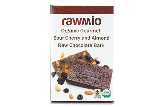 Sour Cherry and Almond Raw Organic Chocolate Bark by Rawmio