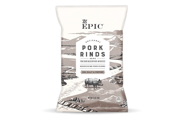 Artisanal Pork Rinds, Sea Salt & Pepper by EPIC