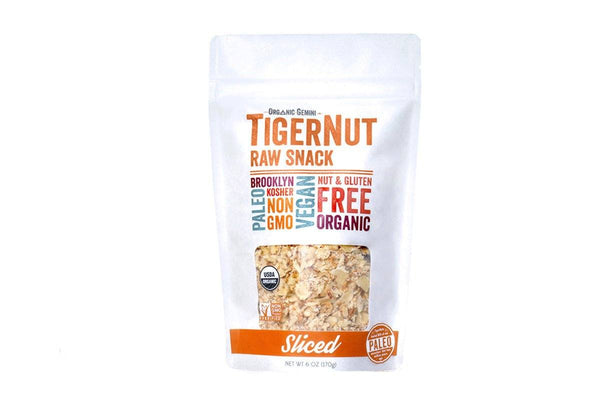 Sliced TigerNuts Dried Raw Snack by Organic Gemini