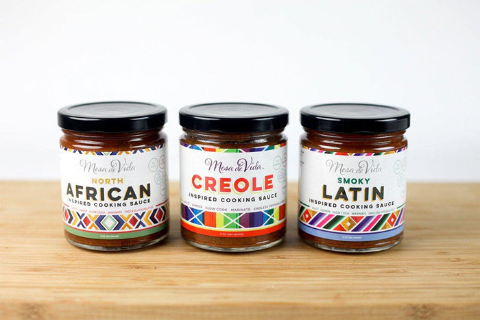Inspired Cooking Sauces (Creole, North African, Latin) by Mesa de Vida (3 pack)