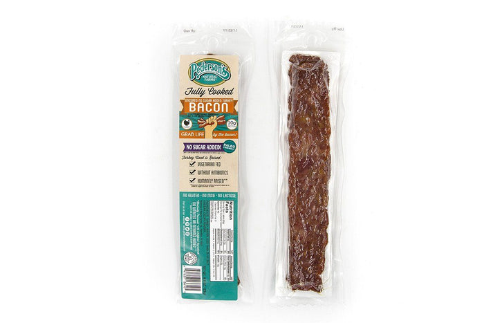 Turkey Bacon Snack Pack, Fully Cooked, by Pederson's Natural Farms, Case of 30