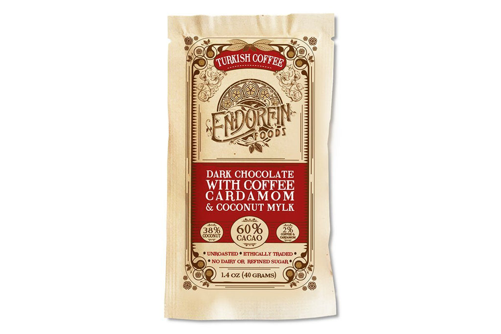 Turkish Coffee Dark Mylk 60% Chocolate Bar by Endorfin