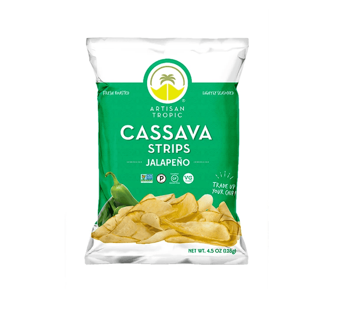 Cassava Strips, Jalapeno 4.5 oz by Artisan Tropic