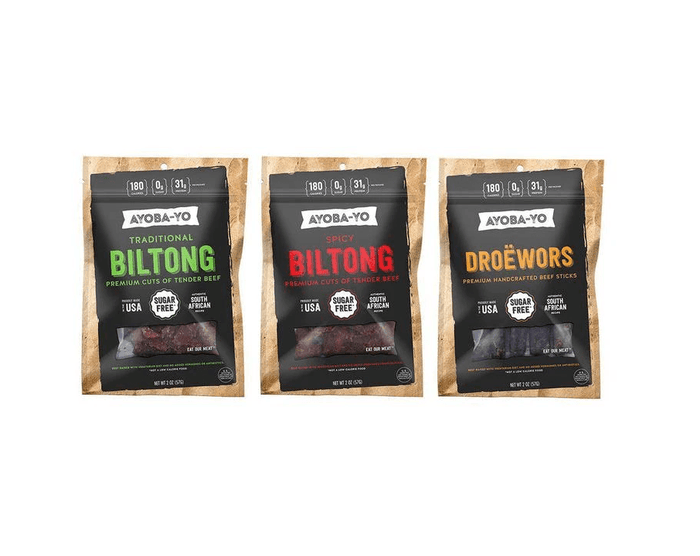 Droëwors Grass-Fed Beef 3-pack Sampler by Ayoba-Yo