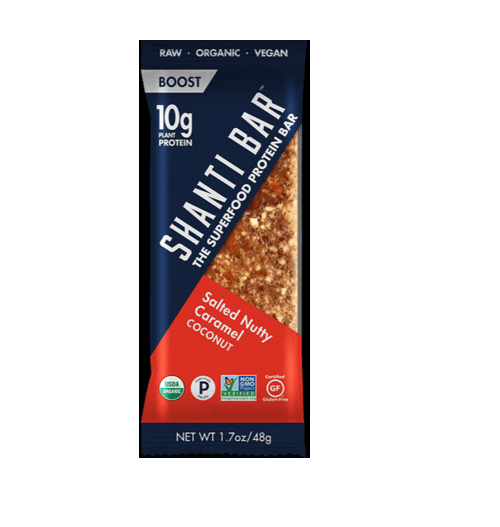 BOOST Superfood Protein Bar, Salted Nutty Caramel Coconut, 1.7 oz by Shanti Bar