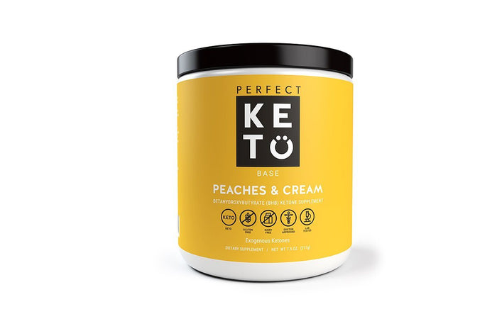 Perfect Keto Base Exogenous Ketones, Peaches and Cream by Perfect Keto