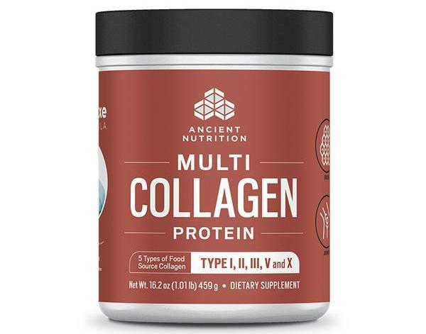 Dr. Axe Multi-Collagen Protein (All-In-One), 1 lb, by Ancient Nutrition