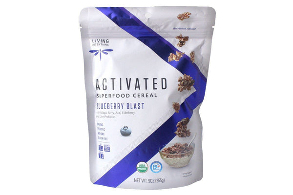 Blueberry Blast Activated Superfood Cereal with Live Probiotics by Living Intentions