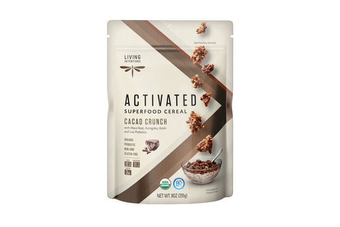 Raw Cacao Crunch Activated Superfood Cereal by Living Intentions