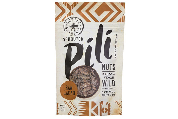 Raw Cacao Pili Nuts by Hunter Gatherer Foods - 1.85 oz