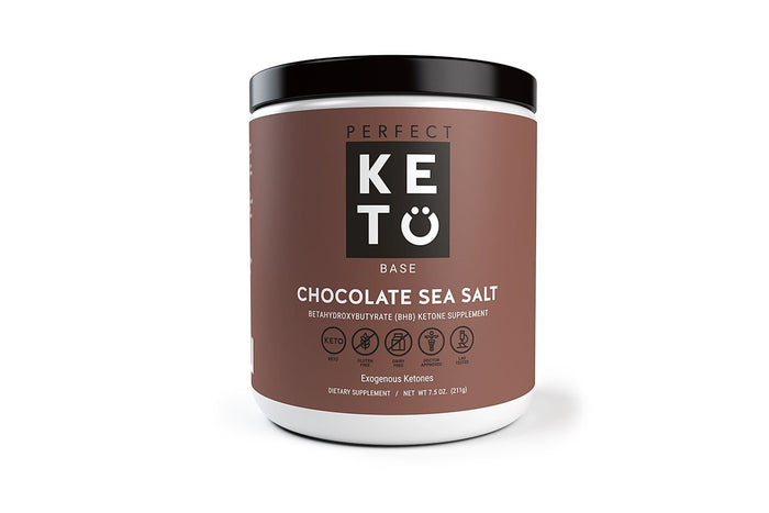 Perfect Keto Base Exogenous Ketones, Chocolate Sea Salt by Perfect Keto