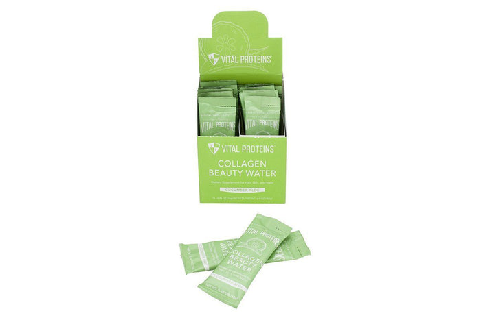 Cucumber Aloe Collagen Beauty Water Sticks, Box of 14  by Vital Proteins