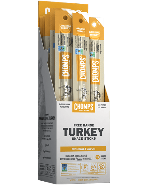 Chomps Snack Sticks, Original Free Range Turkey