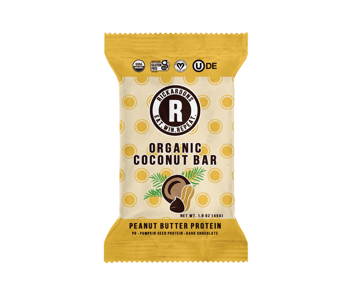Peanut Butter Protein Coconut Energy Bars by Rickaroons