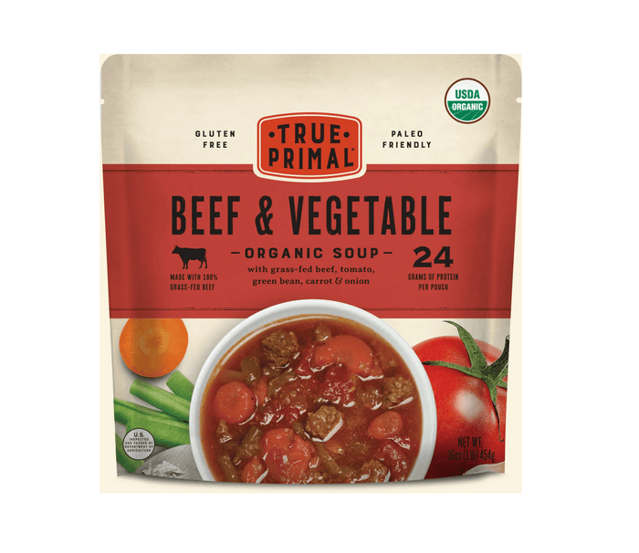 Organic Grass Fed Beef & Vegetable Soup by True Primal