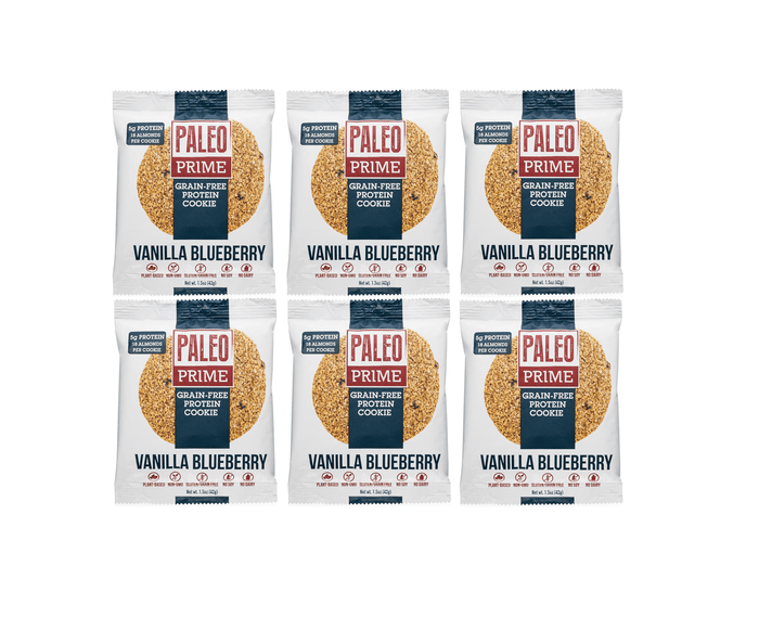 Grain-Free Protein Cookie Vanilla Blueberry (6-pack) by Paleo Prime