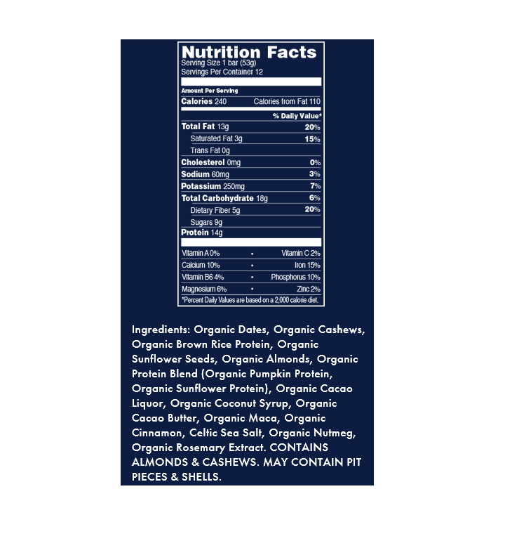 FORTITUDE Superfood Protein Bar, Nut Butter Chocolate Chip Maca, 1.7 oz by Shanti Bar