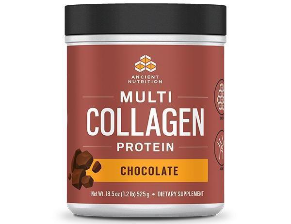 Dr. Axe Multi-Collagen Protein, Chocolate, 1 lb, by Ancient Nutrition