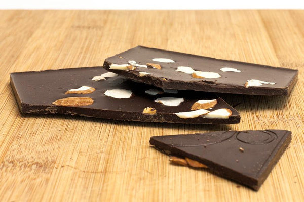 Almond & Sea Salt Chocolate Bar by eating EVOLVED