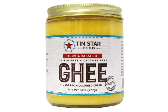 Cultured Grass-Fed Ghee by Tin Star Foods -  8 oz