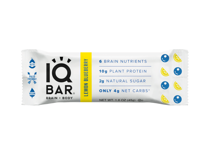 Blueberry Lemon Sunflower Bar by IQ Bar